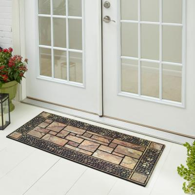 Patio Stones Multi 19.5 in. x 47 in. Door Mat