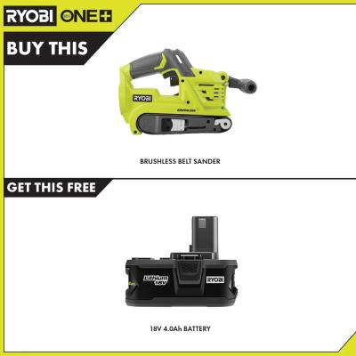 18-Volt ONE+ Cordless Brushless 3 in. x 18 in. Belt Sander with 4.0 Ah Lithium-Ion Battery