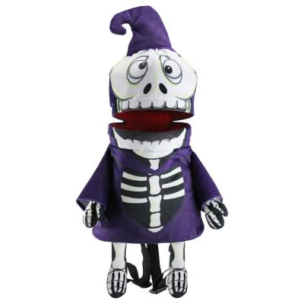 24 in. Musical Animated Skeleton Children's Halloween Trick or Treat Bag