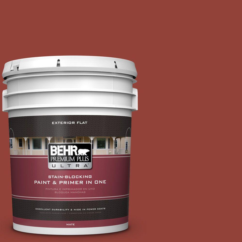 BEHR Premium Plus Ultra 5-gal. #PMD-21 Autumn Maple Flat Exterior Paint
