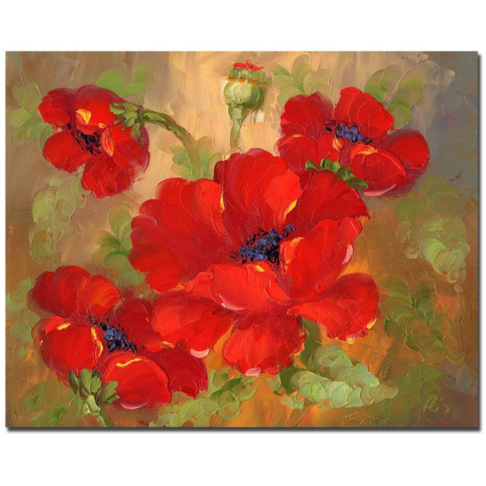 null 26 in. x 32 in. Poppies Canvas Art