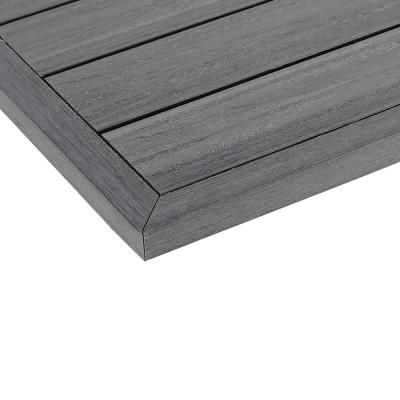 1/6 ft. x 1 ft. Quick Deck Composite Deck Tile Outside Corner Trim in Westminster Gray (2-Pieces/Box)