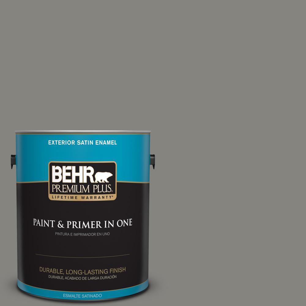 1 gal. #PPU24-07 Barnwood Gray Satin Enamel Exterior Paint