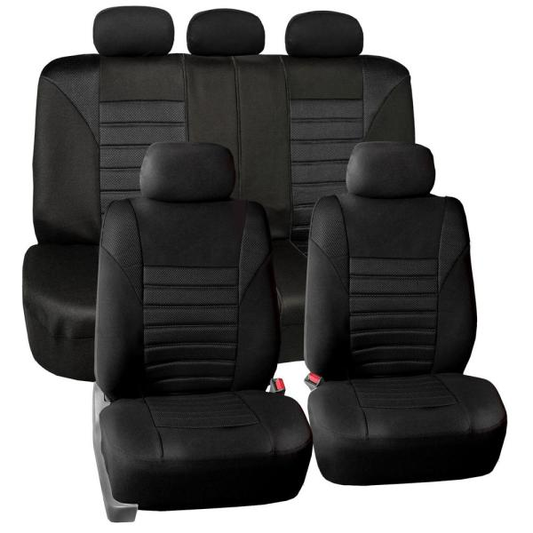 FH Group Premium 3D Air Mesh 47 in. x 23 in. x 1 in. Air Bag Compatible Full Set Seat Covers