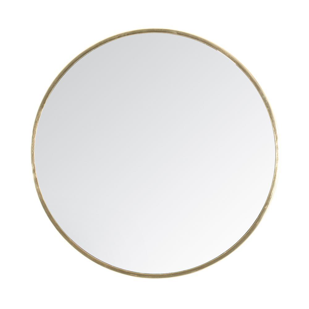 "Tivoli Gold Contemporary Handcrafted Wall Mirror - Round (28"")"