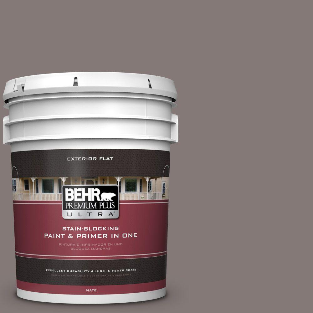 5-gal. #N140-5 Complex Gray Flat Exterior Paint