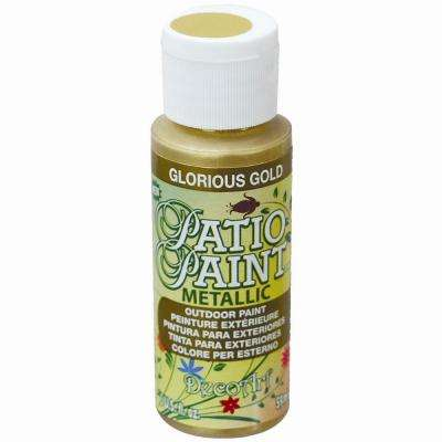 2 oz. Patio Glorious Gold Metallic Acrylic Paint