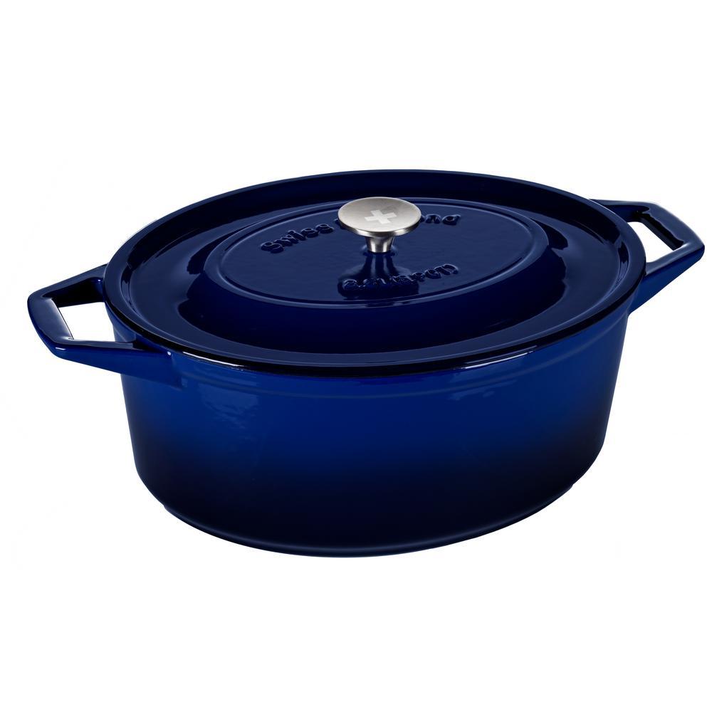 8.9 Qt. Oval Casserole in Saphir Bleu