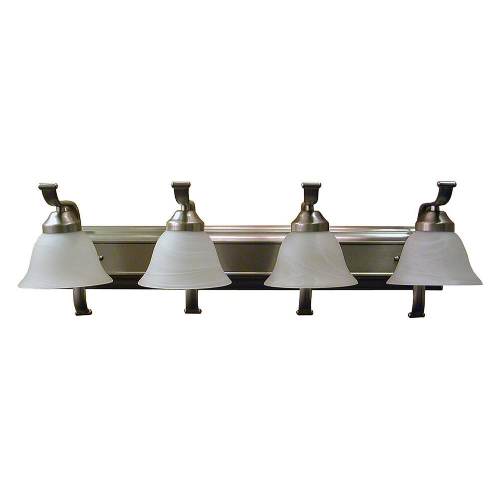 4-Light Satin Steel Bath Light