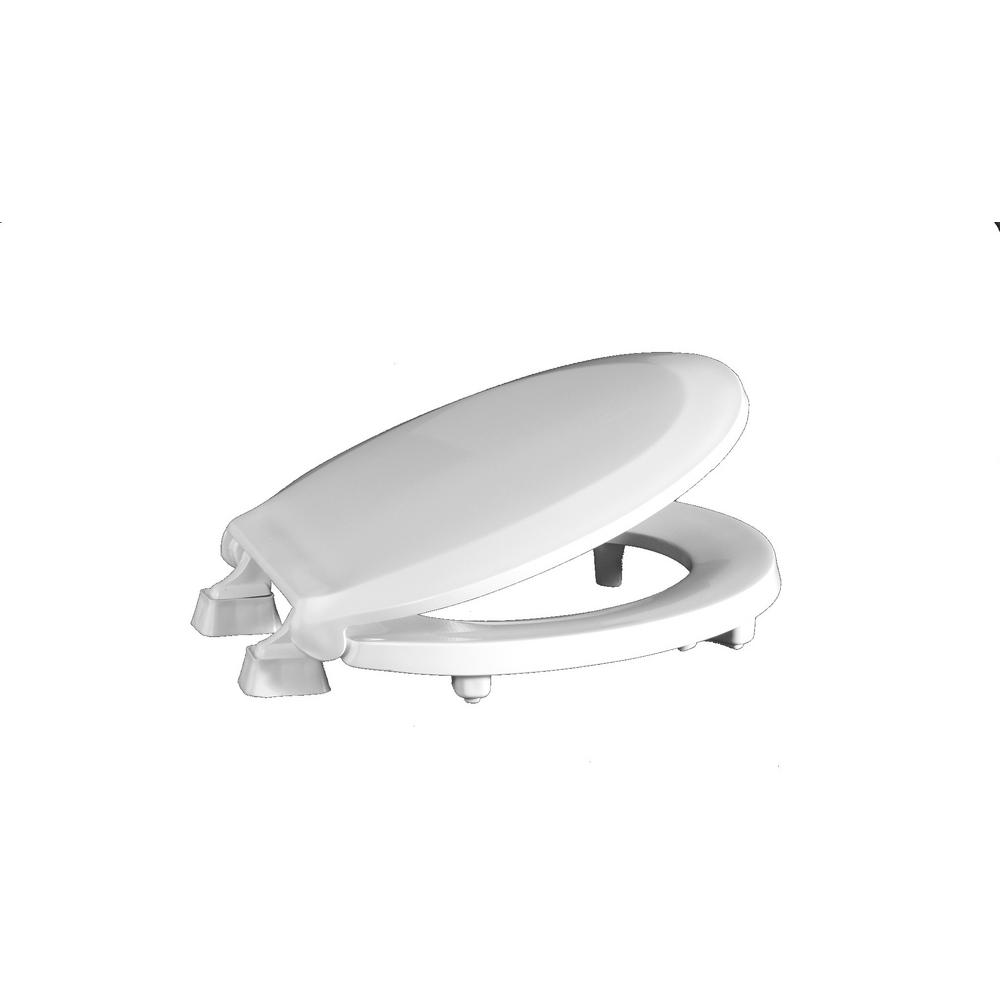 Centoco ADA Compliant Raised Elongated Open Front with Cover Toilet Seat white
