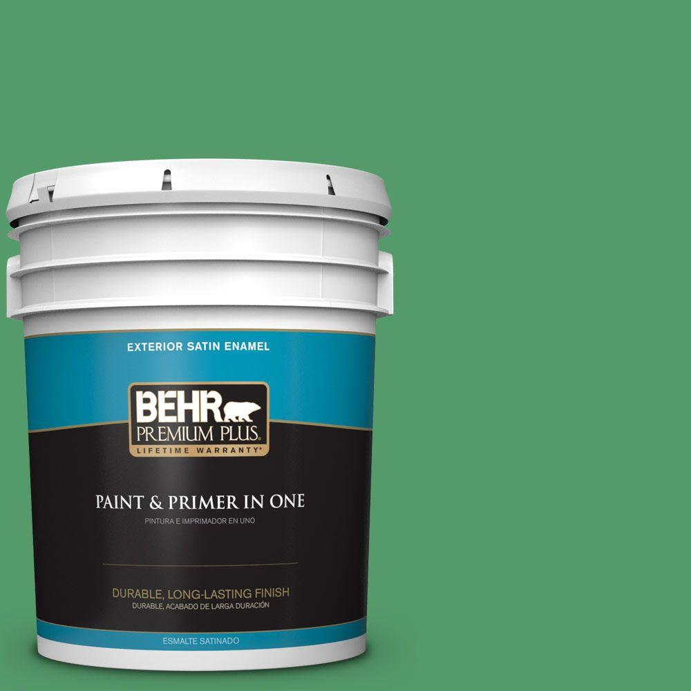 5-gal. #P410-6 Solitary Tree Satin Enamel Exterior Paint