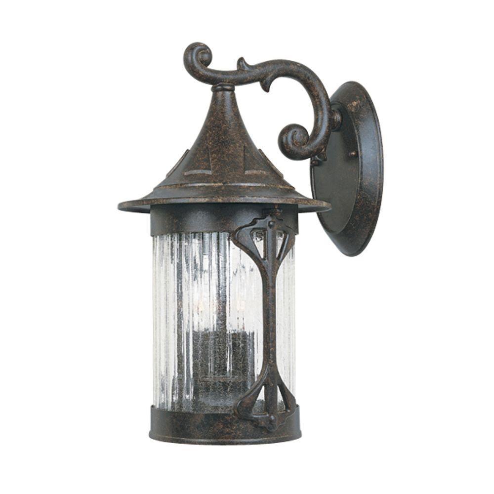 Mill Creek 3-Light Chestnut Outdoor Wall-Mount Lantern