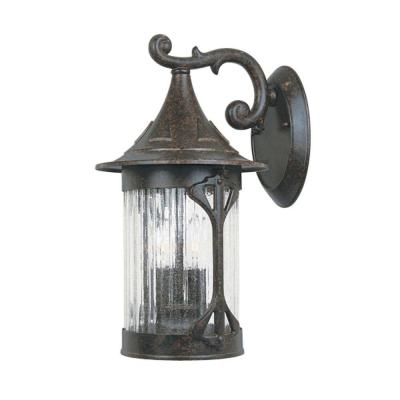 Canyon Lake 3-Light Chestnut Outdoor Wall-Mount Lantern Sconce