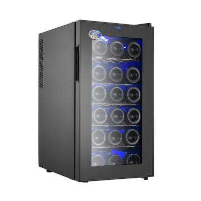 18 Bottle Thermoelectric Wine Cooler Black Beverage Refrigerator