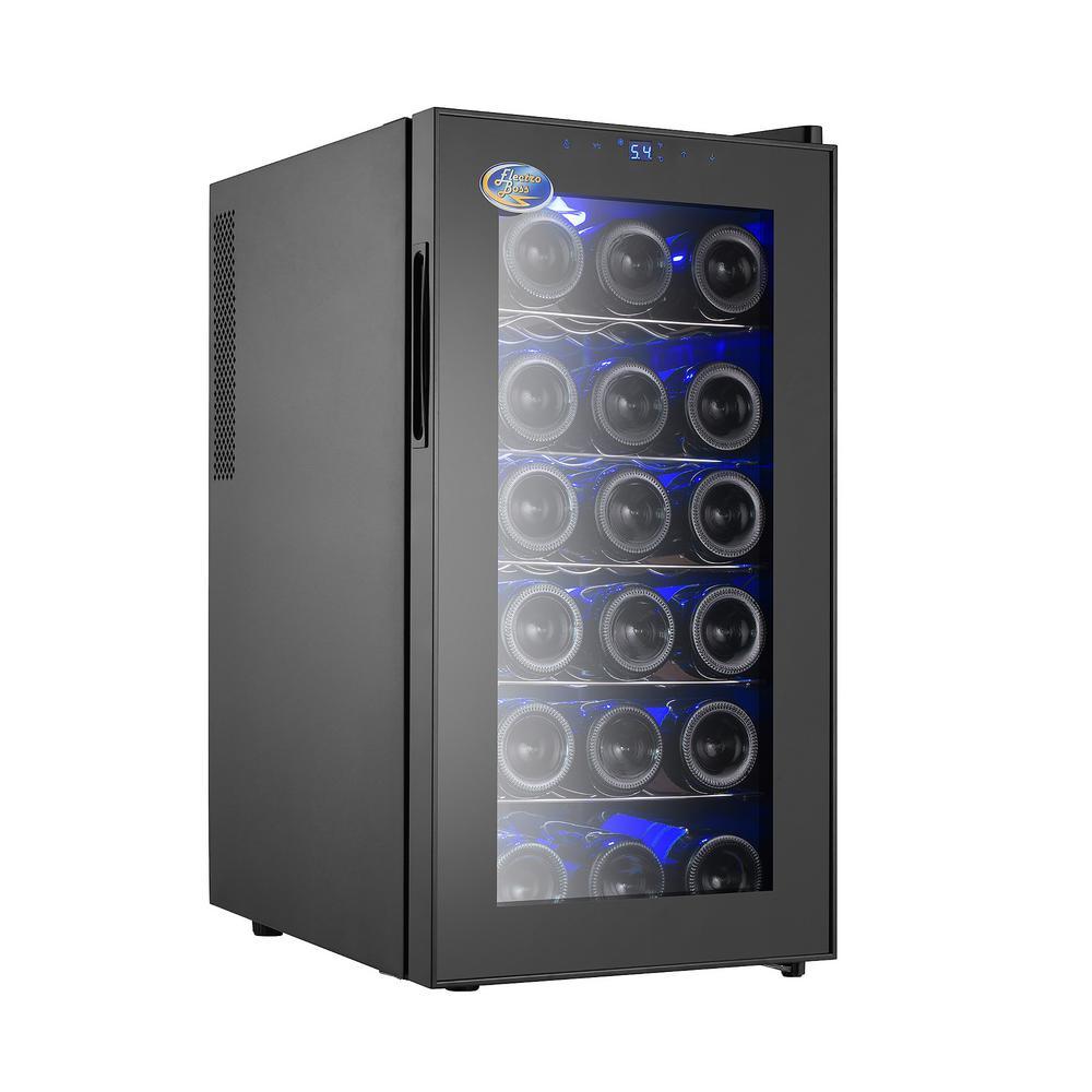 18 Bottle Thermoelectric Wine Cooler Black Beverage Refrigerator