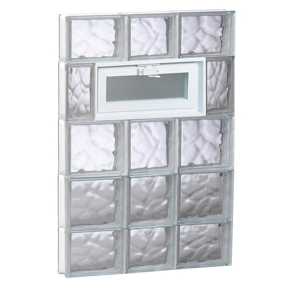 Clearly Secure 21.25 in. x 34.75 in. x 3.125 in. Frameless Wave ...