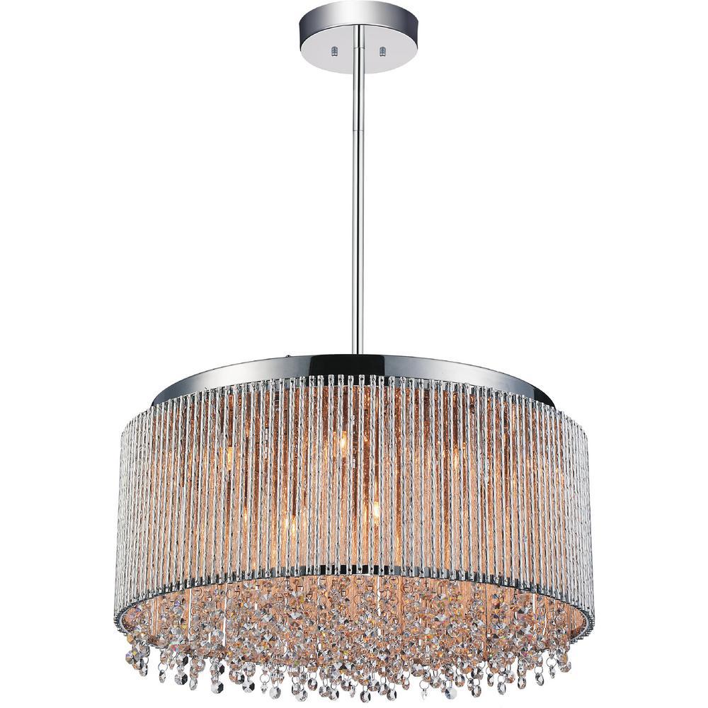 Claire 14-light chrome chandelier