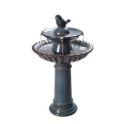 Vienna Ceramic Tiered Fountain Birdbath