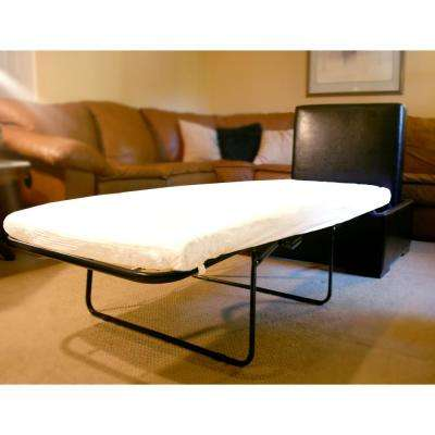 iBED Cot Sized Convertible Ottoman Guest Bed in Dark Espresso