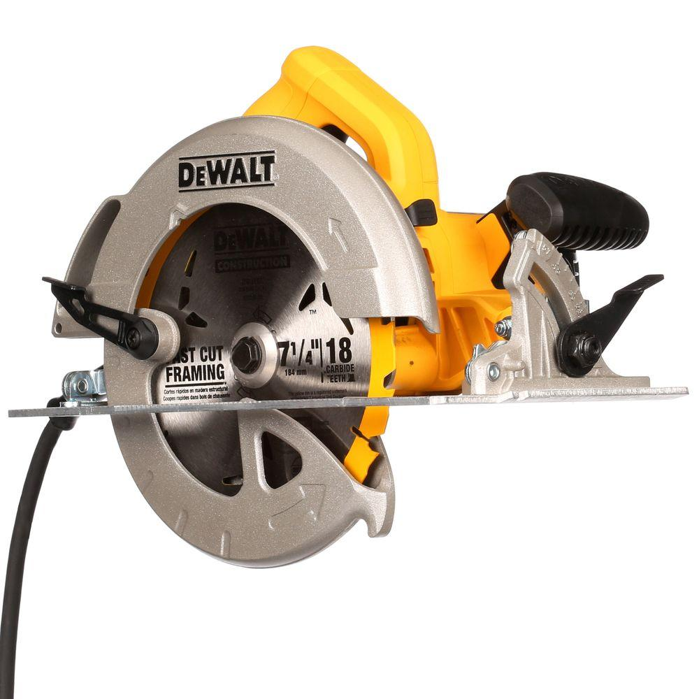 Dewalt 15 amp 7 14 in lightweight circular saw dwe575 the home lightweight circular saw greentooth Image collections