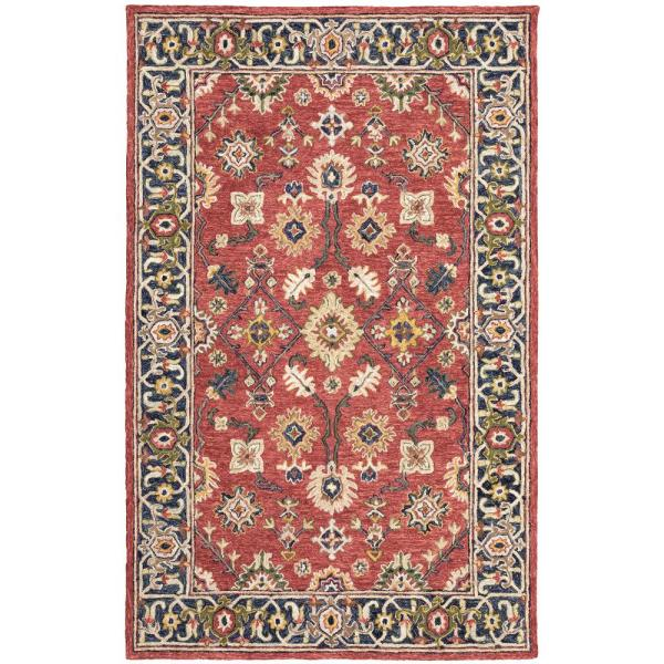Red Blue 5 Ft X 8 Area Rug