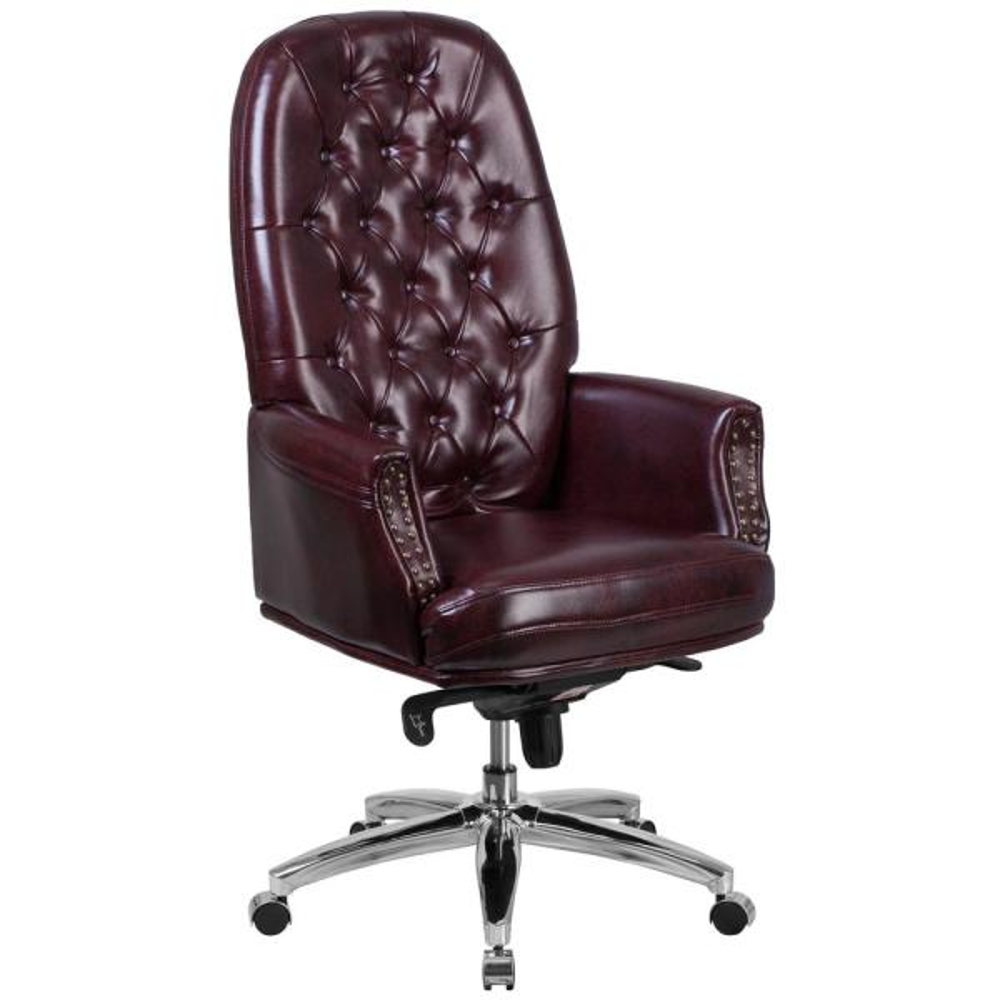 Burgundy Leather Office/Desk Chair