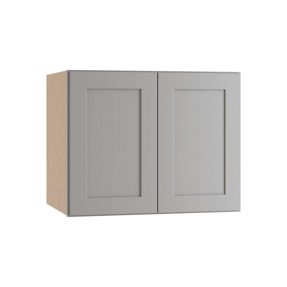 Home Decorators Collection Tremont Assembled 30x24x24 In Wall Kitchen Cabinet With 2 Soft Close Doors In Pearl Gray