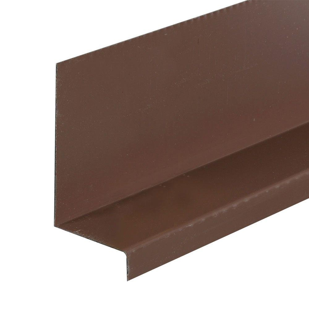 Amerimax Home Products 3 in x 8 ft  Brown Galvanized Steel