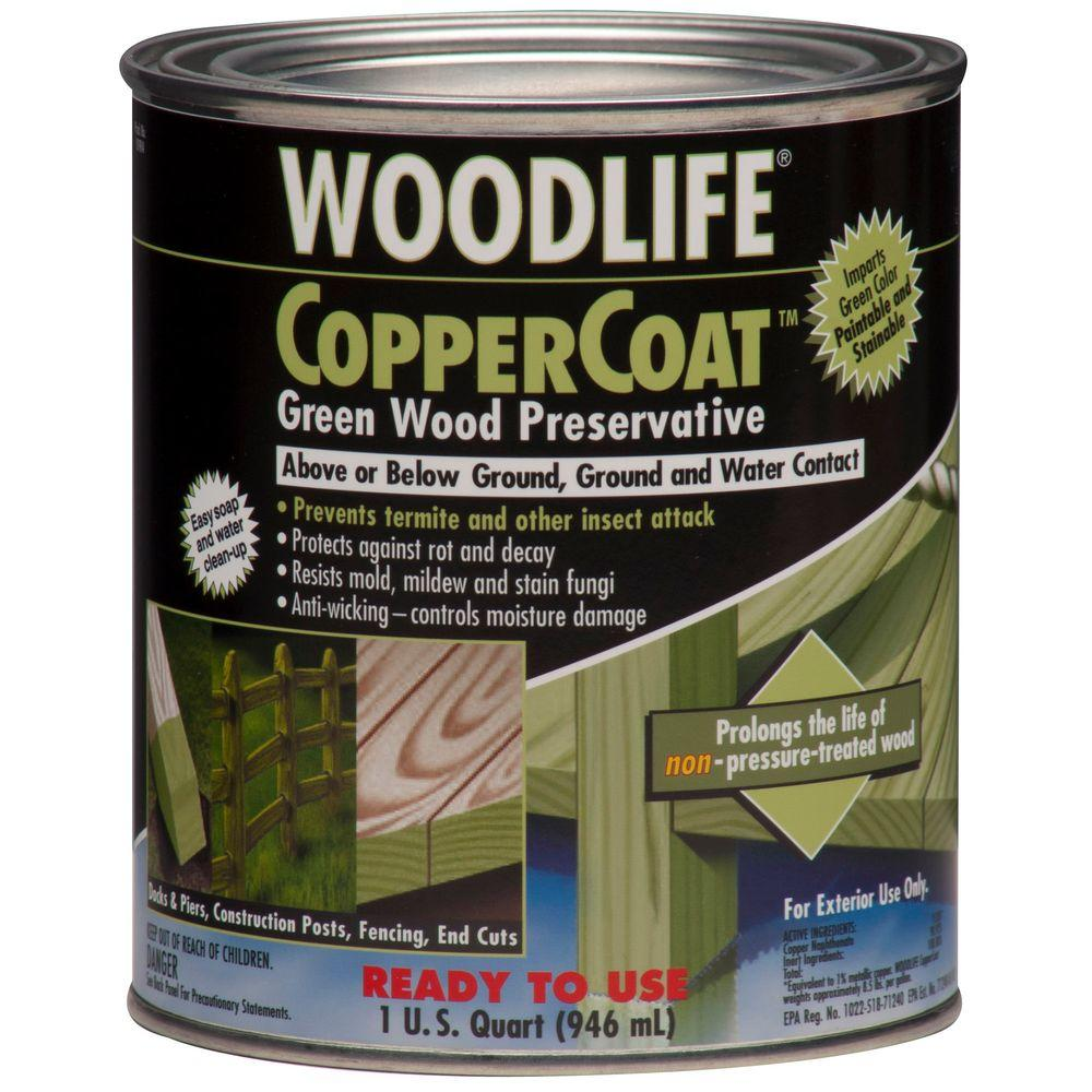 Wolman 1 qt. CopperCoat Green Below Ground Wood Preservative (6-Pack)
