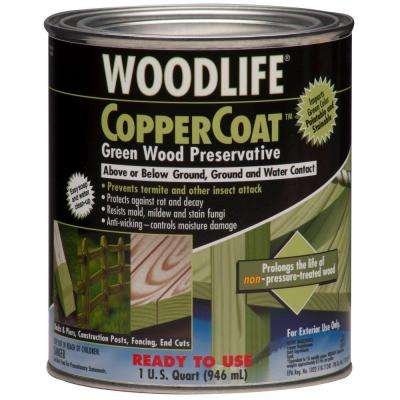 WOODLIFE 1 qt. CopperCoat Green Water-Based Exterior Wood Preservative (6-Pack)