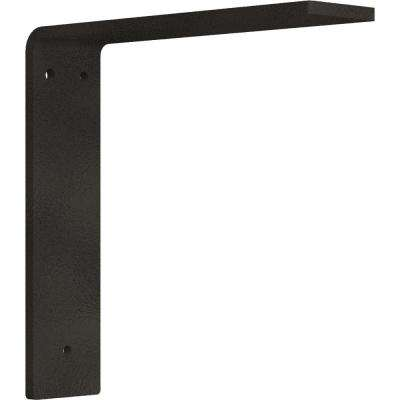 8 in. x 2 in. x 8 in. Steel Hammered Dark Bronze Hamilton Bracket
