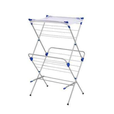 2-Tier Mesh Top Drying Rack