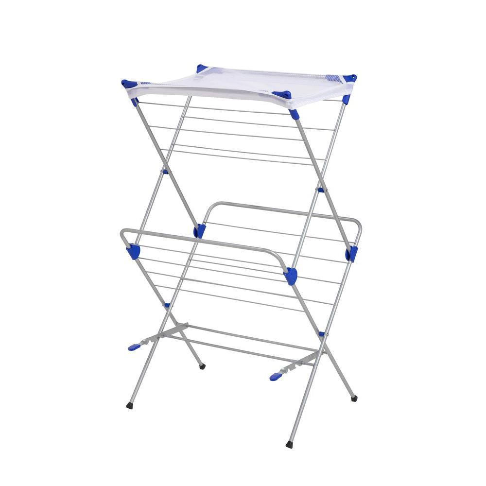 2-Tier Mesh Top Drying Rack