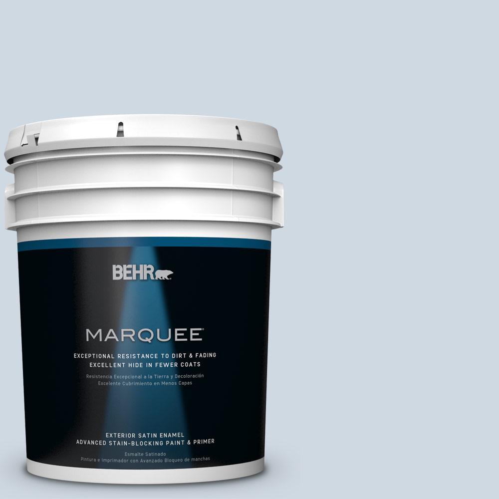 BEHR MARQUEE 5-gal. #S520-1 Pale Cornflower Satin Enamel Exterior Paint