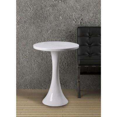 Snowbird White End Table