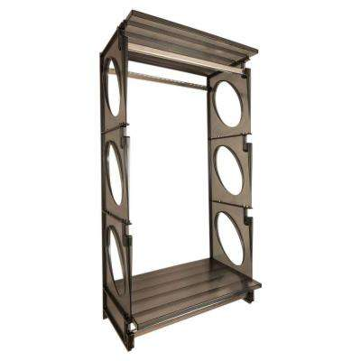 Urban Essential 48 in. H x 25.5 in. W x 14 in. D Closet Shelving Kit in Black