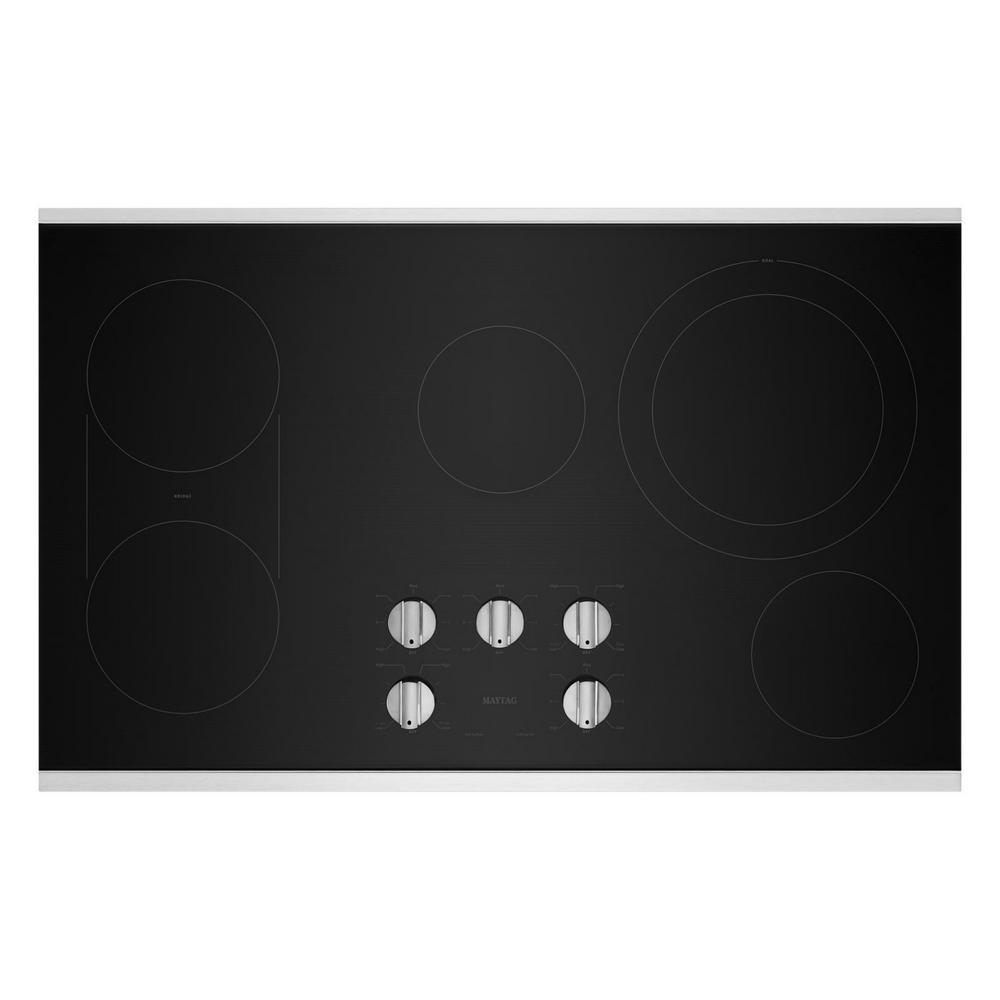 Maytag 36 In Radiant Electric Cooktop In Stainless Steel