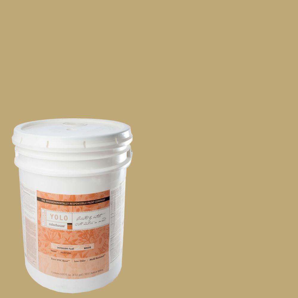 YOLO Colorhouse 5-gal. Stone .02 Flat Interior Paint-DISCONTINUED