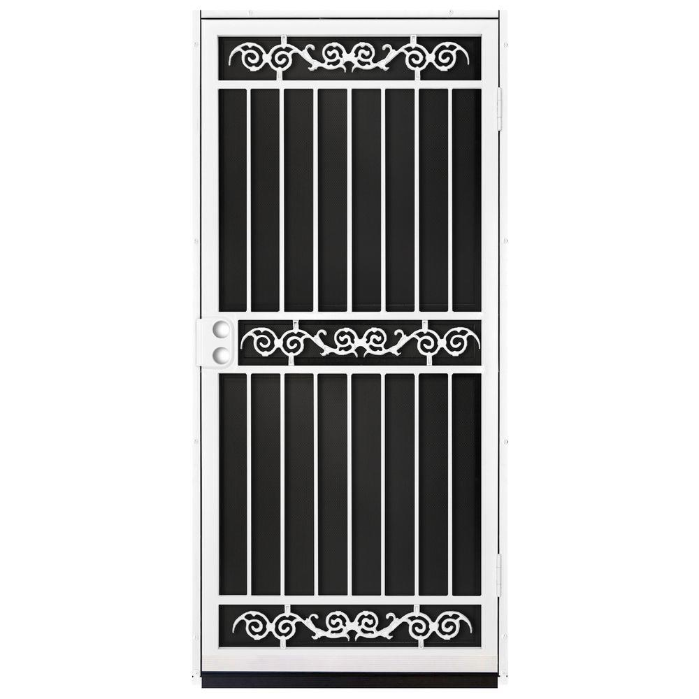 Unique Home Designs 36 In. X 80 In. Sylvan White Surface Mount Outswing  Steel
