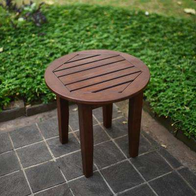 Wales Round Wood Outdoor Side Table