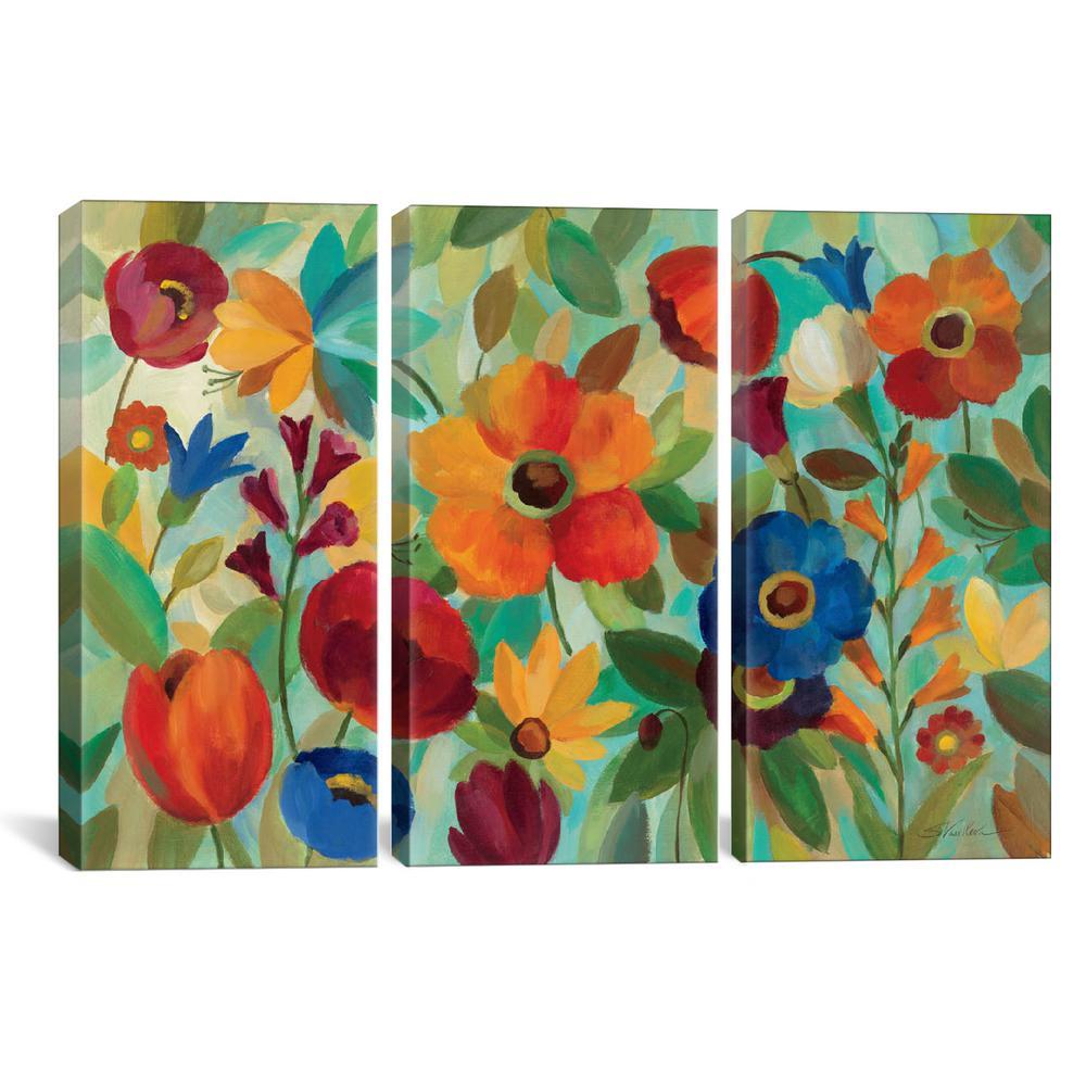"""""""Summer Floral V"""" by Silvia Vassileva Canvas Wall Art"""