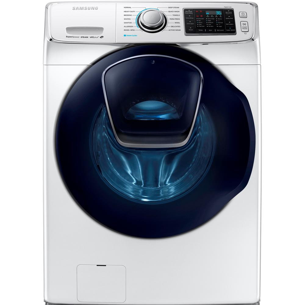 Samsung 4.5 cu. ft. High-Efficiency Front Load Washer with Steam and AddWash Door in White, ENERGY STAR