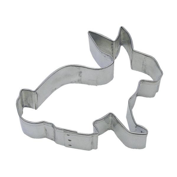 CybrTrayd 12-Piece 4 in. Cottontail Tinplated Steel Cookie Cutter and Recipe