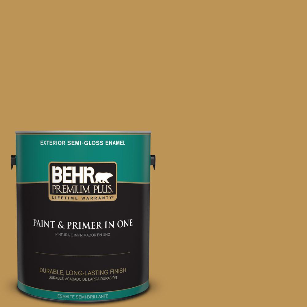BEHR Premium Plus 1-gal. #T12-5 Lone Star Semi-Gloss Enamel Exterior Paint