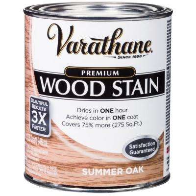 1 qt. Summer Oak Premium Fast Dry Interior Wood Stain (2-Pack)