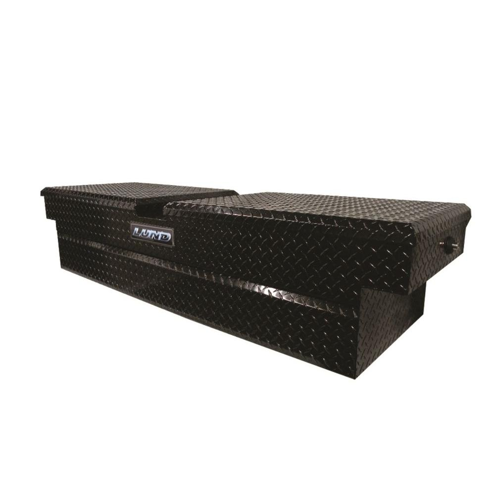 Lund 72 In Gloss Black Aluminum Full Size Crossbed Truck Tool Box With Mounting Hardware And Keys Included 79350pb The Home Depot