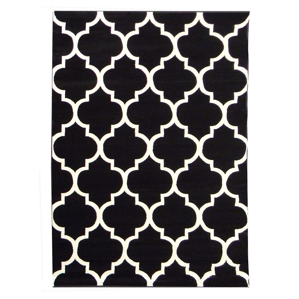 DonnieAnn Tiffany Design Black 5 ft. 4 in. x 7 ft. 1 in. Indoor Area Rug