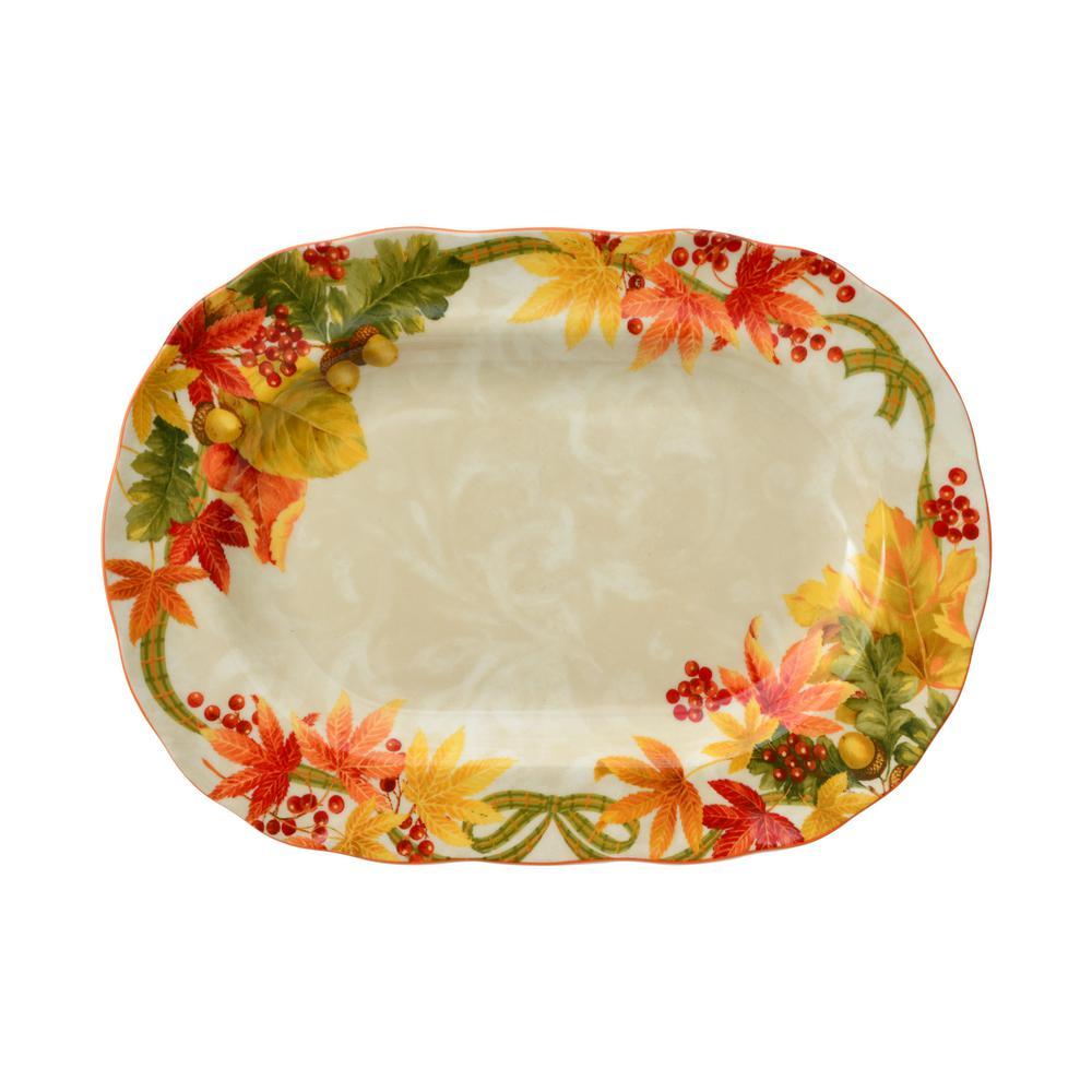 "Autumn Celebration 14"" Platter"