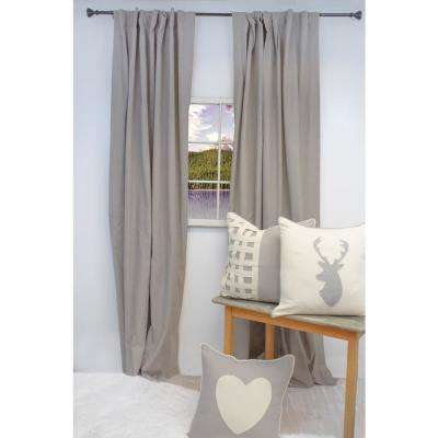 84 in. L Natural Curtain Panel