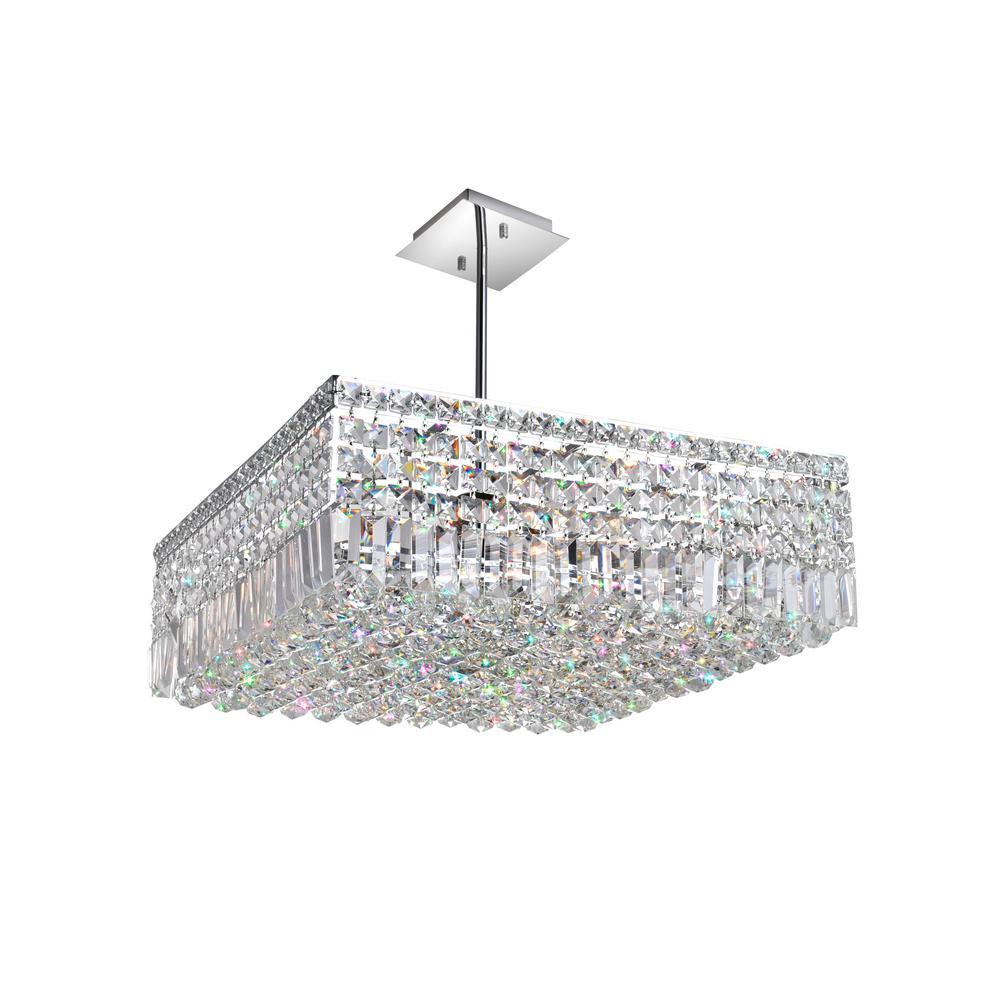 Cwi Lighting Colosseum 10 Light Chrome Chandelier
